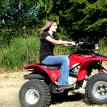 kelsy riding quad